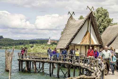 Die Pfahlbausiedlungen aus der Stein- und Bronzezeit (4000 bis 850 v. Chr.) am Bodensee werden in Unteruhldingen wieder lebendig.pfahlbaumuseum unteruhldingen