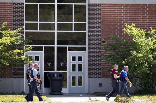 Die Schießerei ereignete sich in der Noblesville West Middle School. AP