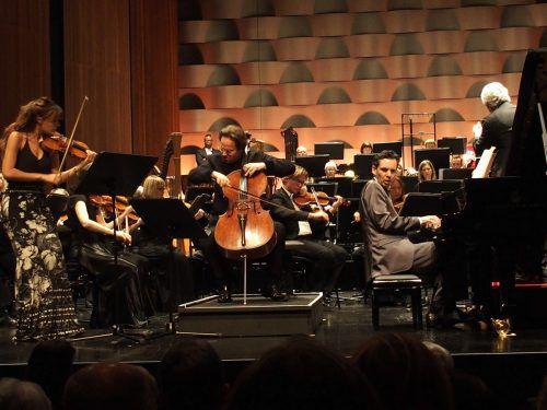 Die Solisten Nicola Benedetti, Jan Vogler und Martin Stadtfeld mit dem Royal Scottish National Orchestra. Die Meisterkonzertsaison 2018/2019 beginnt am 27. Oktober. JUrmann