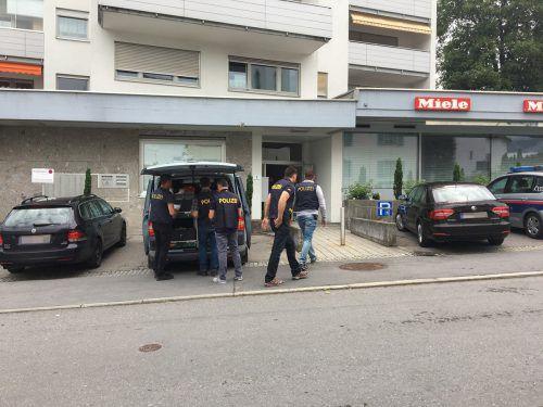 Die Sparkassenfiliale in Haselstauden wurde am Donnerstagvormittag zum Schauplatz eines Raubüberfalls. vol.at/Rauch
