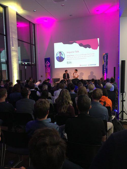 Die Start-up-Veranstaltung im Designforum Dornbirn.VN/Reiner