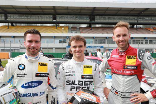 DTM-Trio aus Westösterreich: Der Rookie Philipp Eng, der Kufsteiner Lucas Auer und der Wahl-Bregenzer Champion René Rast. noger