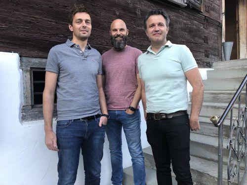 Erfolgsallianz: David Moosbrugger (GF Künz GmbH), Michael Breidenbrücker (CEO Speedstartstudio), Dietmar Nussbaumer (CTO Schelling Anlagenbau). Senseforce