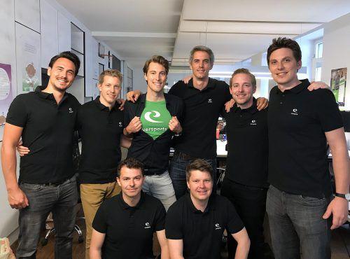 Eversports-Team: Arnaud Andre, Emanuel Steininger, Philipp Braunsberger, Hanno Lippitsch, Kevin Merken, Stefan Feirer, Alexander Estner, Thomas Fritz. Eversports