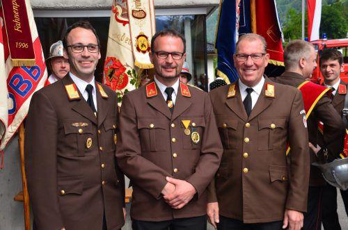 Feuerwehr-Trio: Florian Beiser, Joachim Hillbrand undHubert Vetter (v.l.). DOB