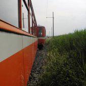 Nach Rheinbähnle-Entgleisung laufen die Ermittlungen auf Hochtouren. B1