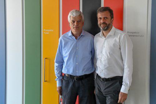 Firmenchef Roman Zech und Unternehmensberater Herbert Loos (r.) wollen das Unternehmen wieder flottkriegen.VN/Lerch