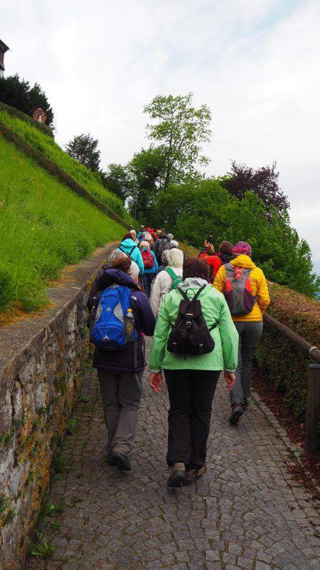 Frühmorgens machten sich die Pilger auf, um den Liebfrauenberg zu erklimmen.