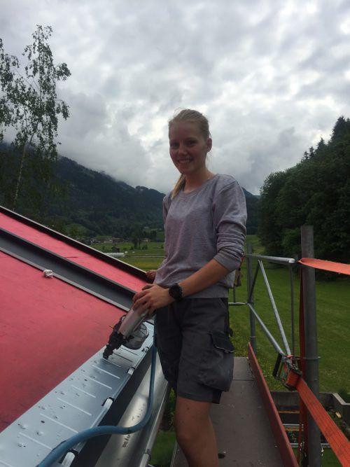 Christina Gridling zeigte 2018 ihr Können beim Berufswettbewerb der Spengler.VN