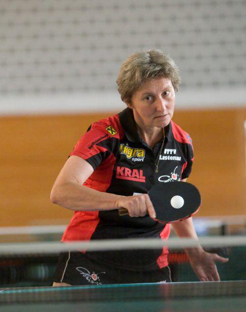 Gabriele Schwarzmann wurde zweifache ÖTTV-Seniorenmeisterin. Paulitsch