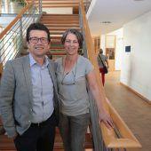 <p>Gästepaar: Steuerberater Peter Bahl mit Marina.</p>