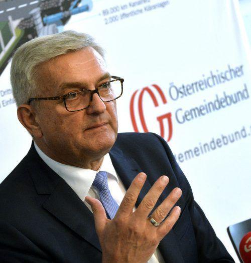 Gemeindebundpräsident Riedl fordert vom Bund mindestens 140 Millionen. APA