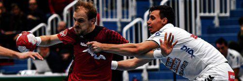 Gerald Zeiner und Titelträger Alpla HC Hard wollen zum Auftakt mit einem Heimsieg gegen die Fivers in der Best-of-five-Finalserie der Handball-Liga Austria vorlegen. gepa