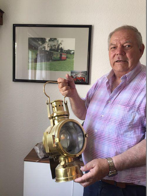 Horst Tscharnuter (74) fuhr 38 Jahre lang das Rheinbähnle.VN-gs