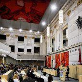 Plötzlich war das Parlament orange, gelb, weiß und lila
