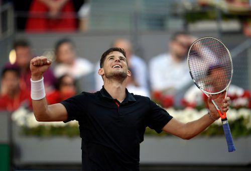 In der Wiederholung des Vorjahresfinales von Madrid setzte sich Dominic Thiem gegen Rafael Nadal durch.AFP