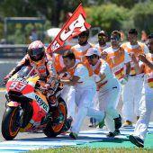 Weltmeister Marquez wieder dortwo er hin gehört: auf Platz eins