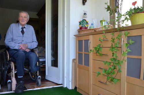 Josef Weiss blickt auf 87 erfüllte Lebensjahre zurück. Sein Wunsch ist, noch ein paar Jahre mit Martina leben zu können.  vn/hrj