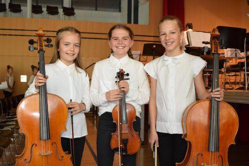 Jüngste Orchestermitglieder: Pauline, Felizia und Zita. mo