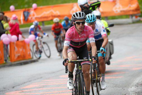 Kann er auch Zeitfahren? Giro-Leader Simon Yates ist heute im Kampf gegen die Uhr gefragt.apa