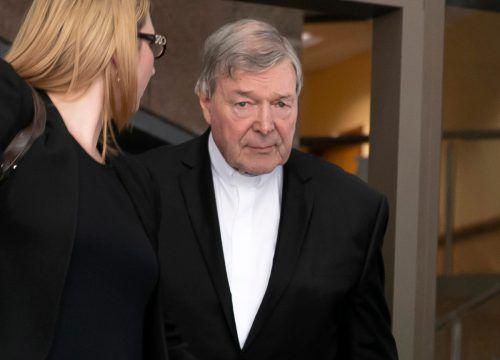 Kardinal George Pell plädiert auf nicht schuldig.AP