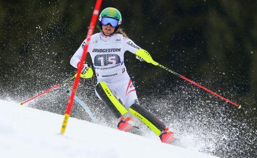 Katharina Liensberger wurde für eine Topsaison mit dem Aufstieg in den Nationalteamkader des Skiverbands belohnt. gepa