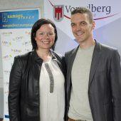 """<p class=""""caption"""">Katja Riedmann (Erasmus) und Patrik Metzler (EFD).</p>"""