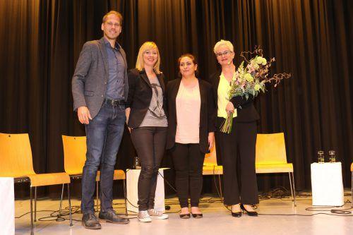 Konnten rund 180 Interessierte begrüßen: Aqua-Geschäftsführer Florian Kresser (l.) mit Prokuristin Kerstin Mündle, Nehir Erdogan und Moderatorin Ursula Kremmel. Aqua