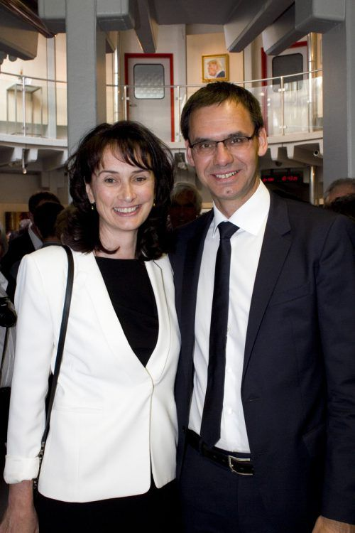 Landeshauptmann Markus Wallner und Gattin Sonja besuchten die Geburtstagsfeier.