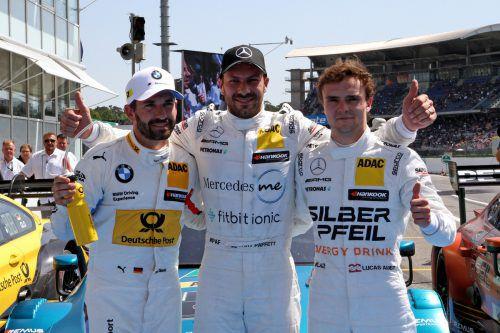Lucas Auer (r.) schaffte es beim Saisonauftakt der DTM in Hockenheim auf den zweiten Rang.gepa