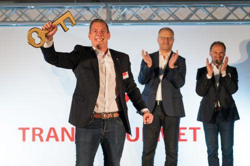 Manuel Gohm und sein Team sind gestern gestartet: Die Transgourmet-Geschäftsführer Manfred Hayböck und Thomas Panholzer (v. l.) sind optimistisch.VN/Stiplovsek
