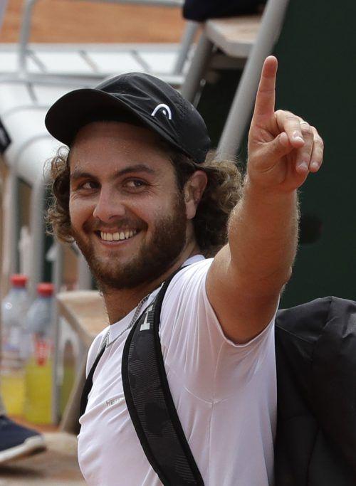 """Marco Trungelliti schaffte es als """"Lucky Loser"""" in die zweite Runde in Paris.ap"""