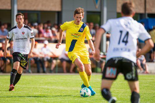 Meiningens Offensivspieler Niklas Schranz konnte die sich ihm bietenden Torchancen nicht nutzen.VN-Stiplovsek