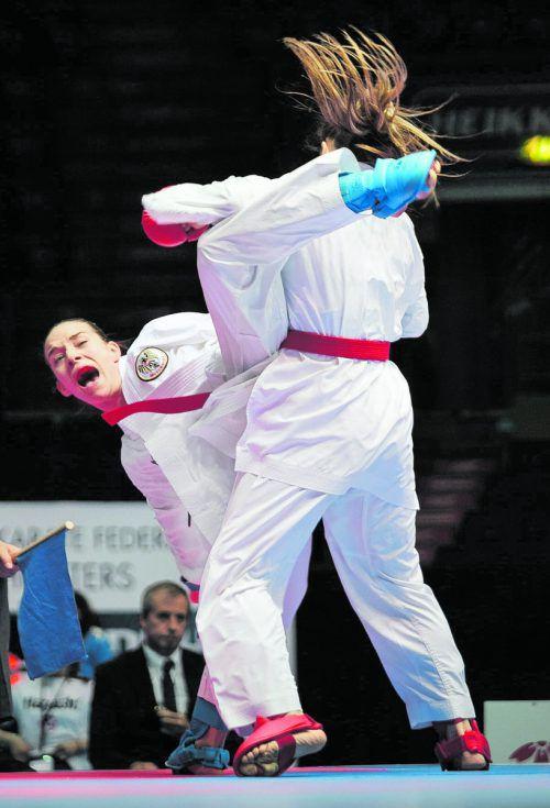 Mit ihrem Sieg über die französische Weltmeisterin Alexandra Recchia konnte sich Bettina Plank für die Niederlage im WM-Halbfinale 2016 revanchieren. ÖKB/Roth