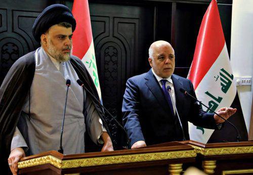 Muqtada al-Sadr und Haider al-Abadi werden wieder die Regierung bilden. ap