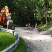 Sanierungsarbeiten und Straßensperre