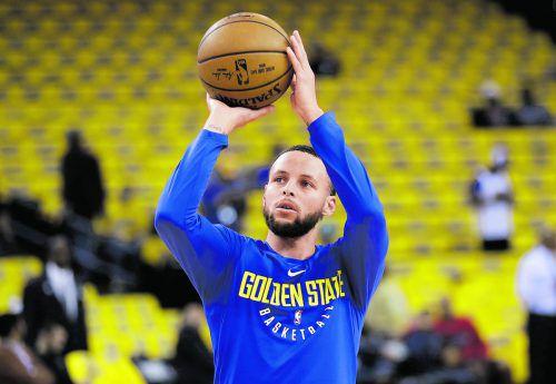 Nach einer Verletzung im linken Knie wieder fit: Stephen Curry.ap