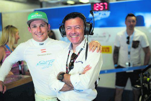 Nächster Blancpain-GT-Series-Einsatz für Christian Klien (l.), hier mit dem Franzosen Loic David, der das Lexus-GT-Programm für Toyota in Europa leitet. efr