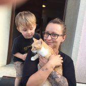 Nicoles und Marlons Kätzchen entkam unheimlichem Tierquäler in Lustenau. B1