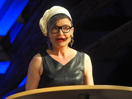 Olga Flor bei den Droste-Literaturtagen in Meersburg. Voith