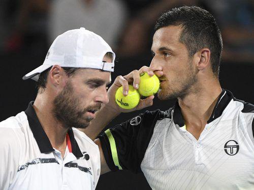 Oliver Marach (l.) und Mate Pavic sind aktuell das beste Tennis-Doppel der Welt.ap