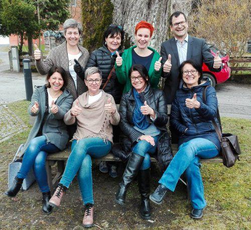 Organisatoren (hinten v. l.): Susanne Wäger, Birgit Werner, Sandra Müller, Kurt Dietrich; (vorne v. l.) Juliane Nigg, Manuela Burtscher, Regina Pixner, Helga Bickel.