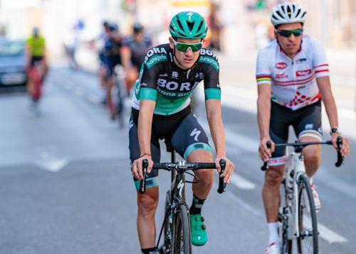 Patrick Konrad nimmt Rang zehn in der Giro-Gesamtwertung ein. AFP