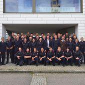 Polizeischüler pauken in der Feuerwehrschule