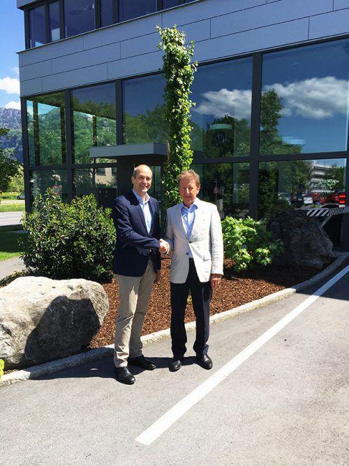 Ralf Oesingmann (GF seit 1. Jänner 2018) und Firmengründer Erhard Meier. MV