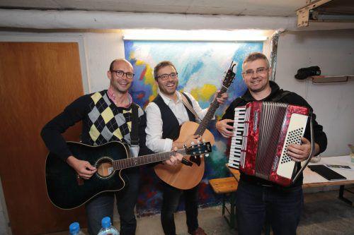Reinhard Haid, Manuel und Bruder Christoph Zelzer.