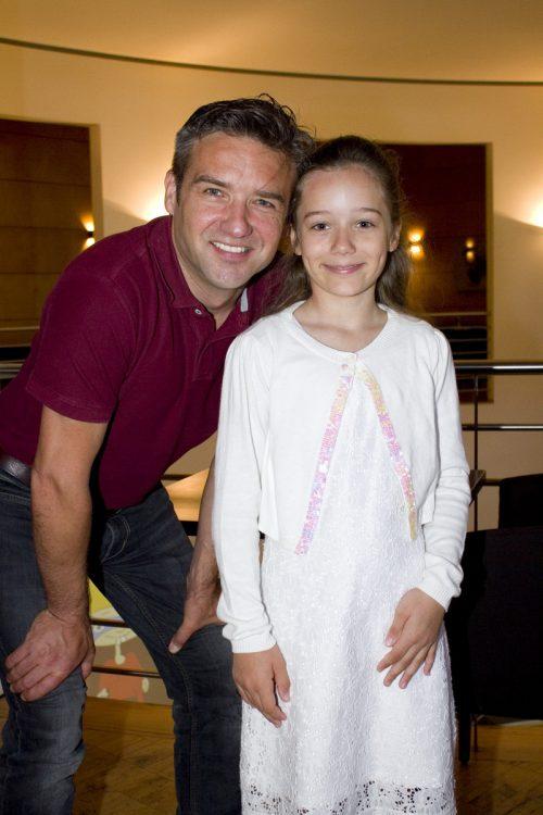 Sänger Hanno Pinter und Tochter Valerie.