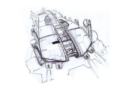 Schindlers Beitrag zum Obrist C-Transformer, einer Maschine, die mit Hilfe der Natur Kohlenstoff aus der Atmosphäre entzieht und im Erdboden nachhaltig speichert.