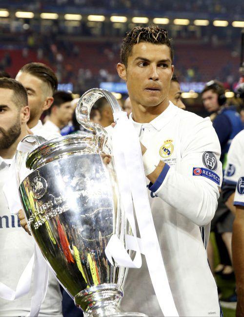 Seit acht Jahren ist Cristiano Ronaldo nun bei Real Madrid. Am Samstag will der Portugiese in Kiew mit den Königlichen erneut die Champions-League-Trophäe holen.afp