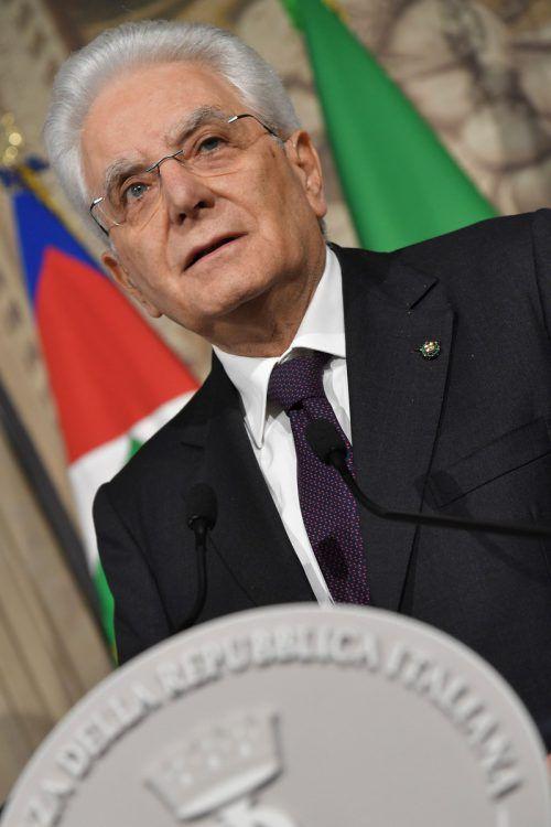 Sergio Mattarella will möglichst rasch eine Regierung in Italien. afp